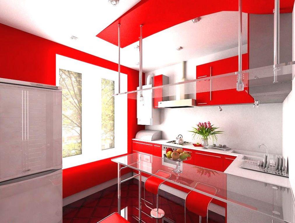 Дизайн хайтек кухня